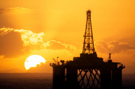 Oil rig image for futures trading news